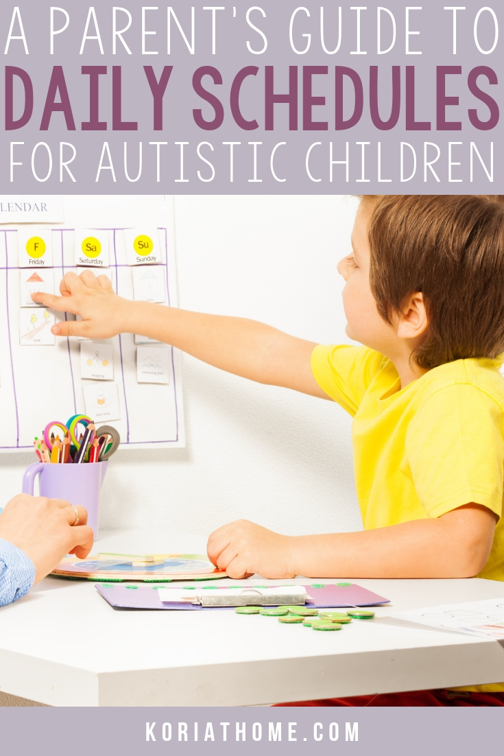 Free Printable Daily Schedule For Children On The Autism Spectrum regarding Free Printable Picture Schedules For Children