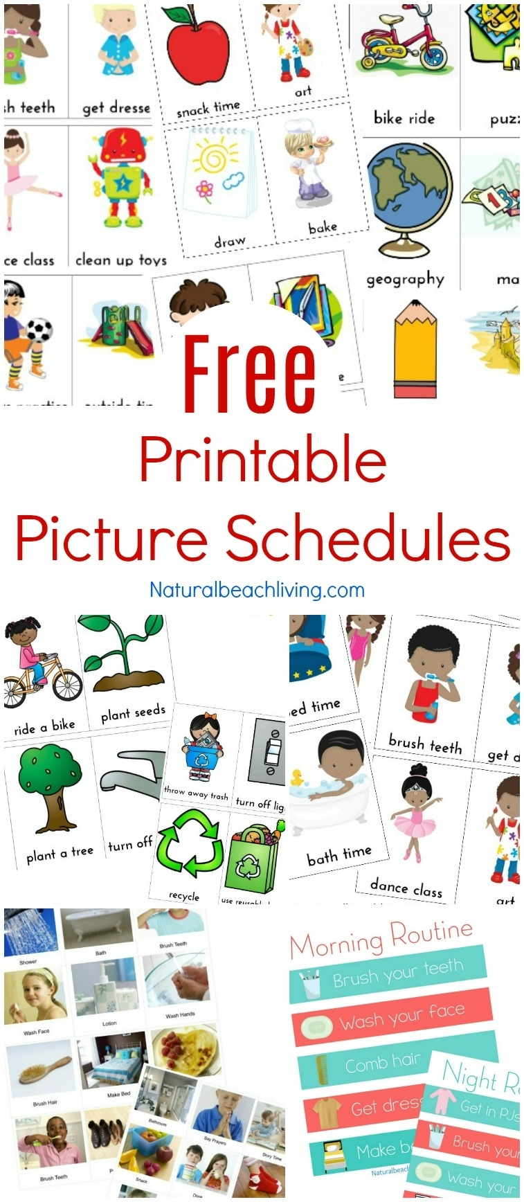 Free Printable Picture Schedule Cards - Visual Schedule Printables with Free Printable Picture Schedules For Children