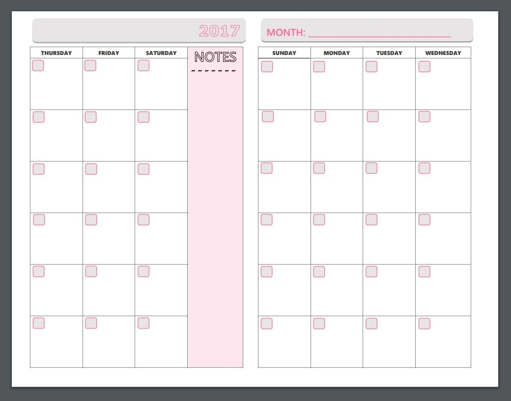 Free Printable Planner Pages - The Make Your Own Zone throughout Printable Monthly Organiser Pages Monday To Sunday