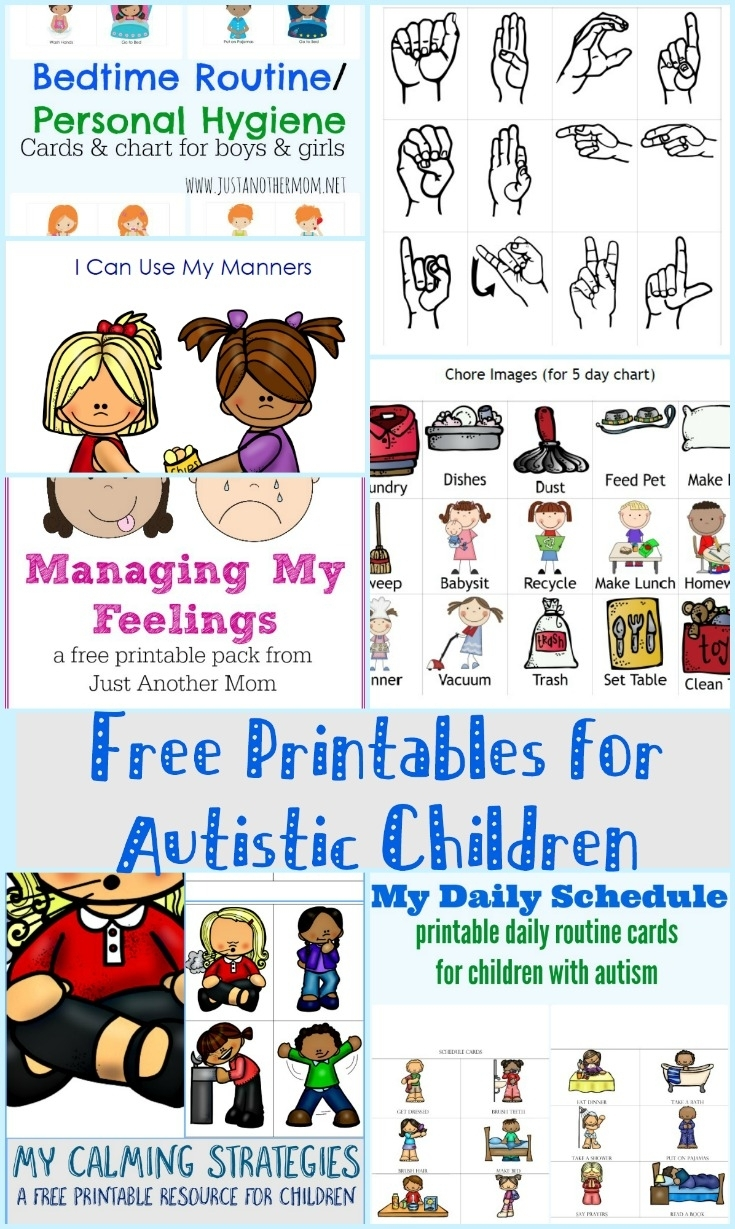 Free Printables For Autistic Children And Their Families Or Caregivers in Free Printable Picture Schedules For Children