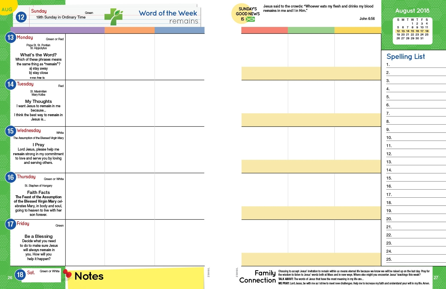 Good News Planners™ – Where School Life And Faith Life Meet with regard to Homework Agenda Template 7Th Grade