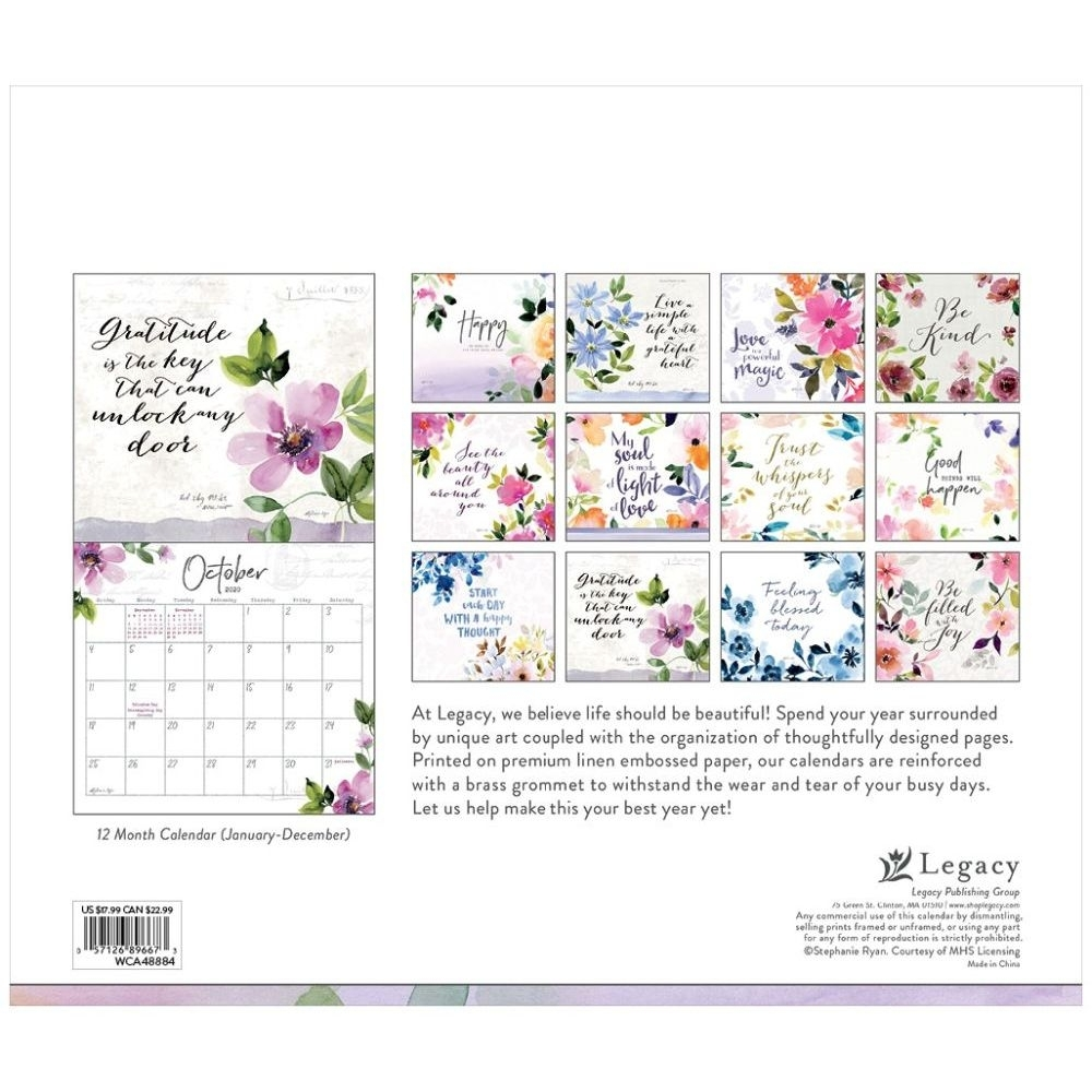 Gratitude Special Edition 2020 Wall Calendar | | Calendars for Special Days In 2020