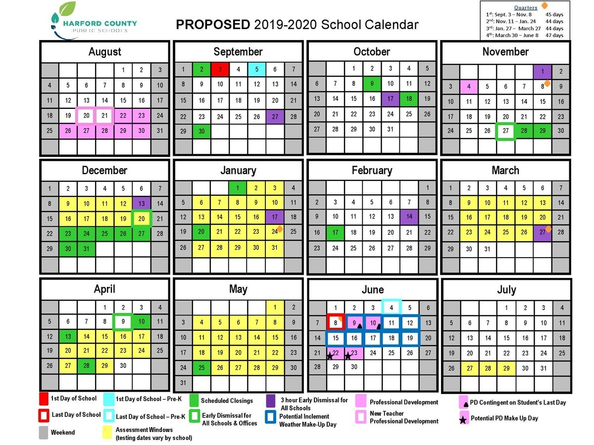 "Hcps On Twitter: ""the Proposed 2019-2020 School Calendar Was pertaining to Embedded Calendar 2020"