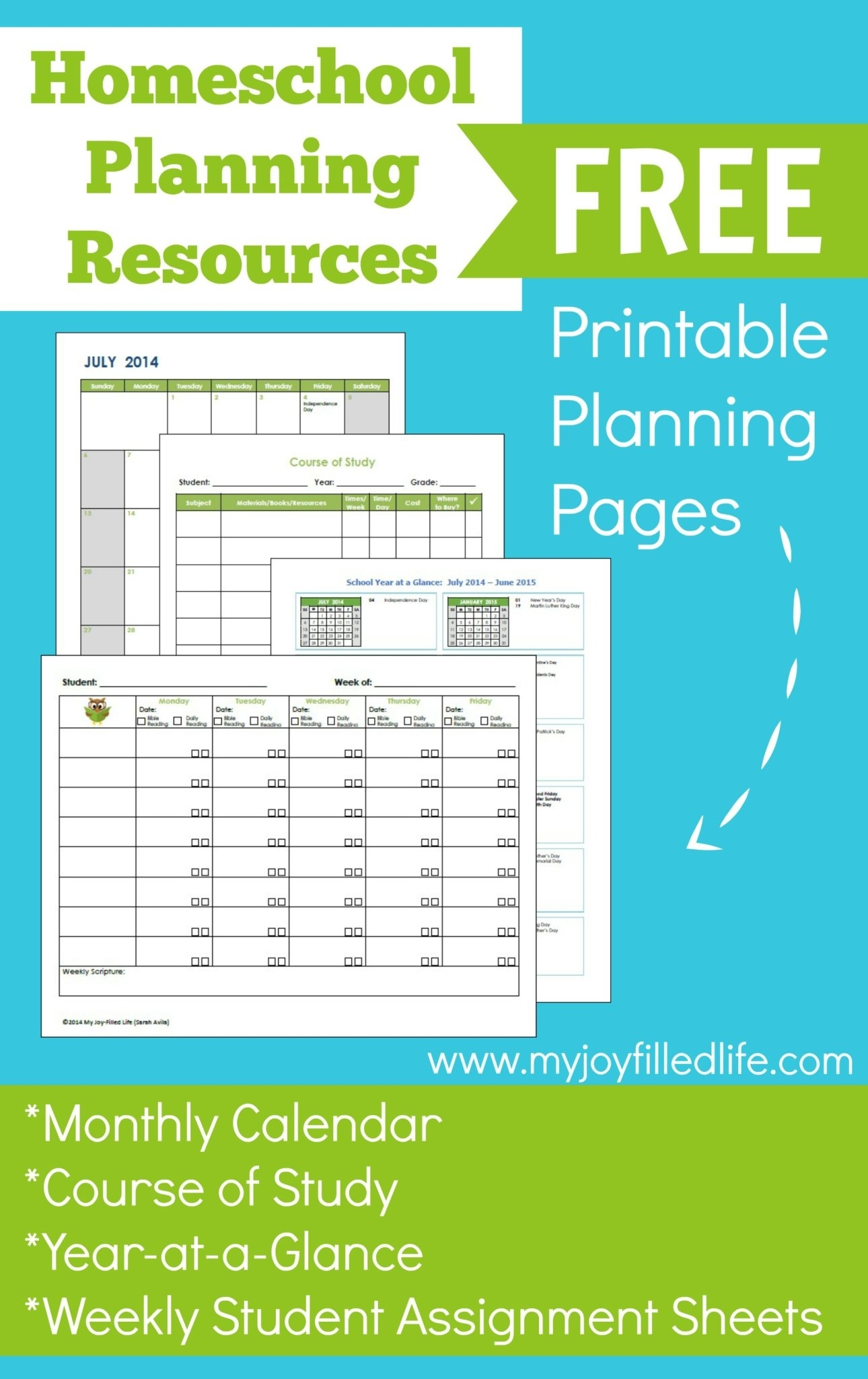 Homeschool Planning Resources & Free Printables - My Joy-Filled Life throughout Free Printable Homeschool Calendar 2019-2020 Year At A Glance