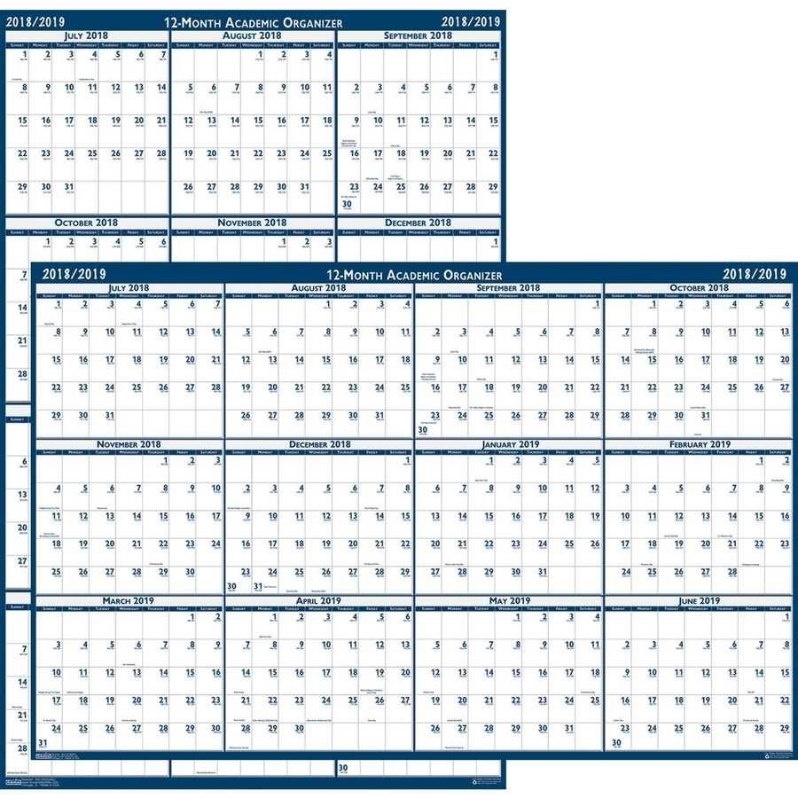 House Of Doolittle Academic July-June Wall Calendar - Yes - Monthly intended for Calendar July 2019 To June 2020