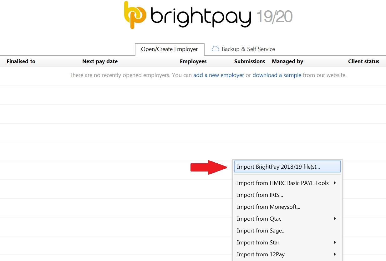 Importing From The Previous Tax Year - Brightpay Documentation intended for Hmrc Fortnightly Tax Calendar 2019 2020