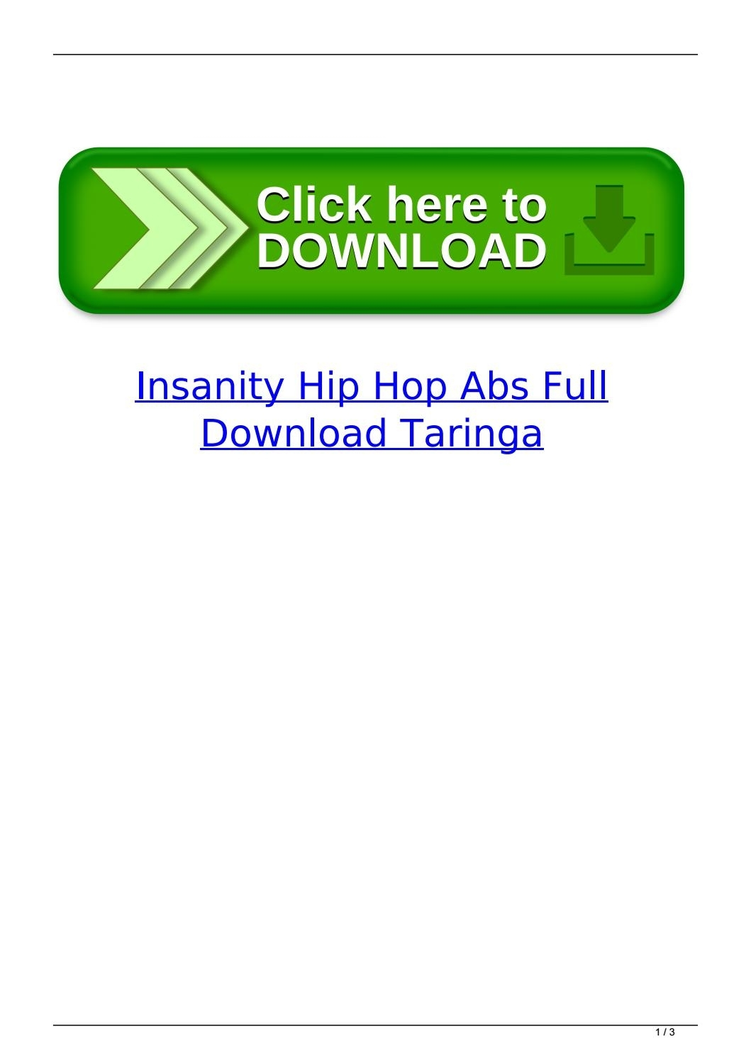 Insanity Hip Hop Abs Full Download Taringaulfisima - Issuu throughout Shaun T Hip Hop Abs Schedule
