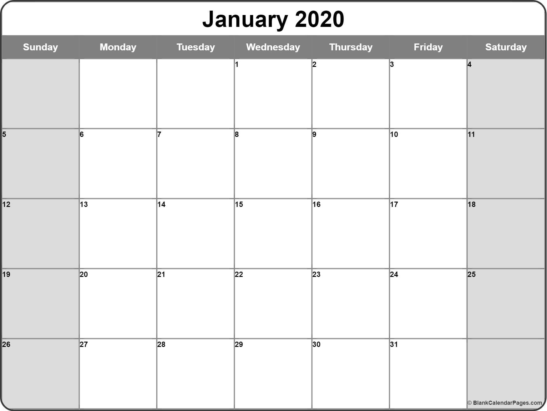 January 2020 Calendar | Free Printable Monthly Calendars pertaining to 2020 Imom Calendar Printable