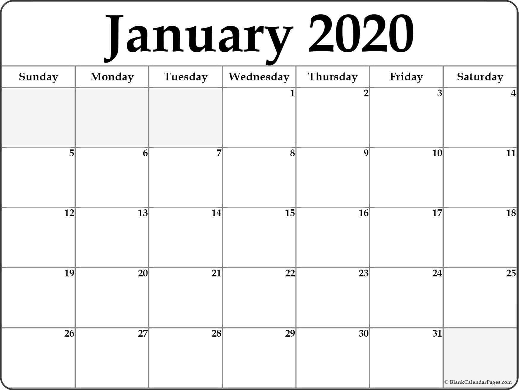 January 2020 Calendar   Free Printable Monthly Calendars with Imom Calendar 2020