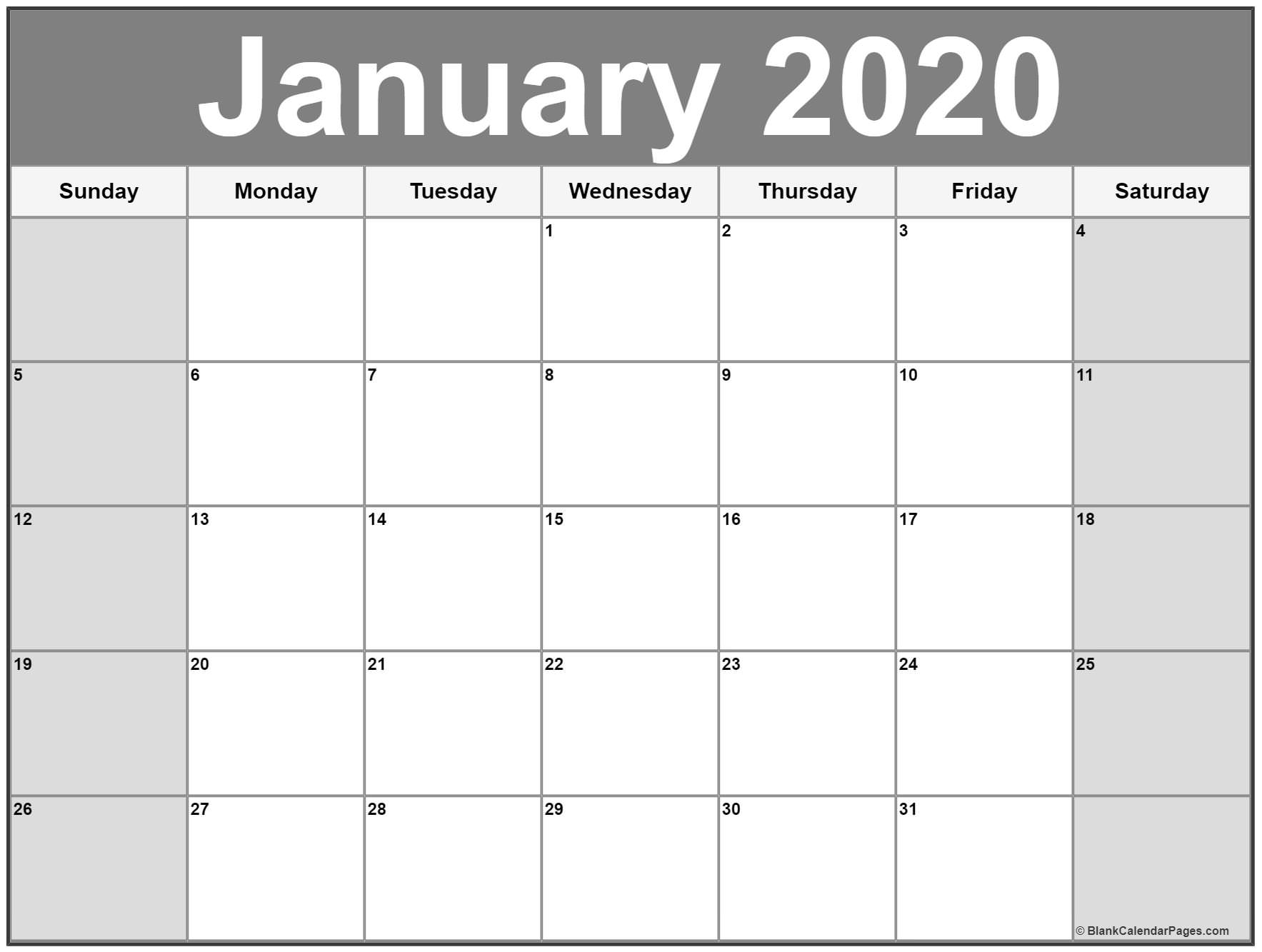 January 2020 Calendar | Free Printable Monthly Calendars with regard to 2020 Imom Calendar Printable