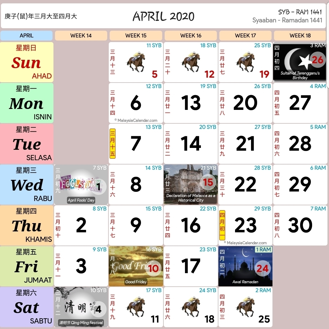 Kalendar 2020 Dan Cuti Sekolah 2020 - Rancang Percutian Anda within Calendar 2020 Kuda