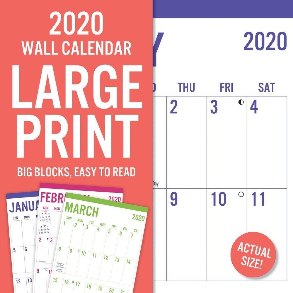 Large Print 2020 Wall Calendar | | Calendars with regard to Free Calendars2020Big Numbers