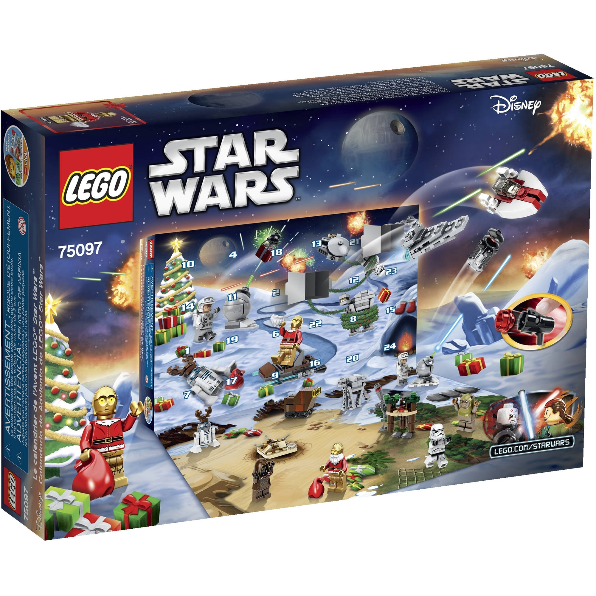 Lego Star Wars Advent Calendar 75097 - Walmart within The Lego Star Wars Chirstimas Set Code