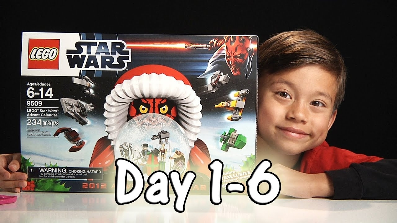 Lego Star Wars Advent Calendar Review Set 9509 - 2012 - Day 1-6 within The Lego Star Wars Chirstimas Set Code