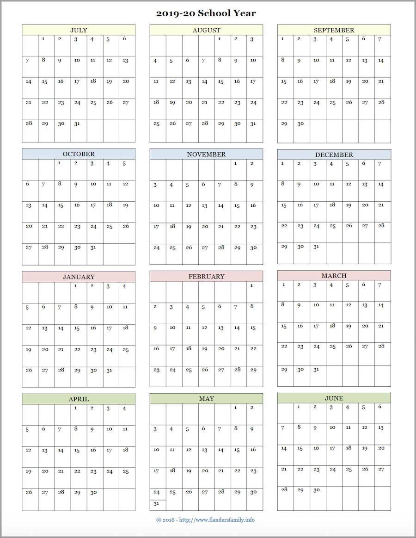 Mailbag Monday: More Academic Calendars (2019-2020) - Flanders regarding Year At A Glance Printable Calendar 2019/2020