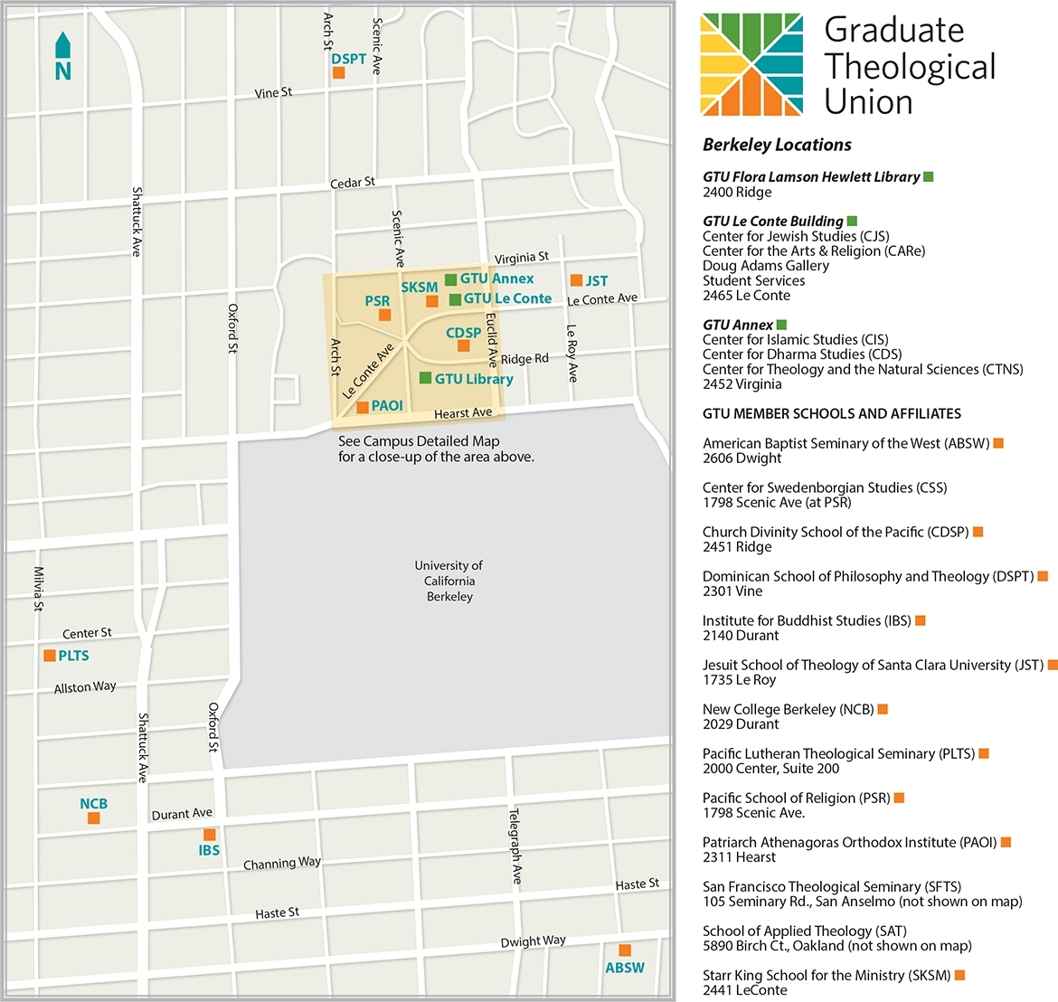 Maps - Berkeley Overview Map | Graduate Theological Union regarding Berkeley Academic Calender 2019-2020