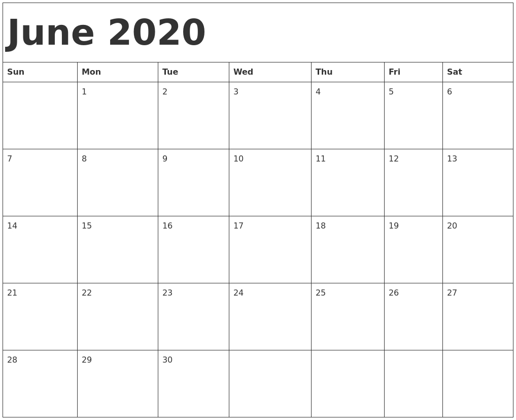May 2020 Printable Calendar pertaining to 2020 Printable Calendar Starting With Monday