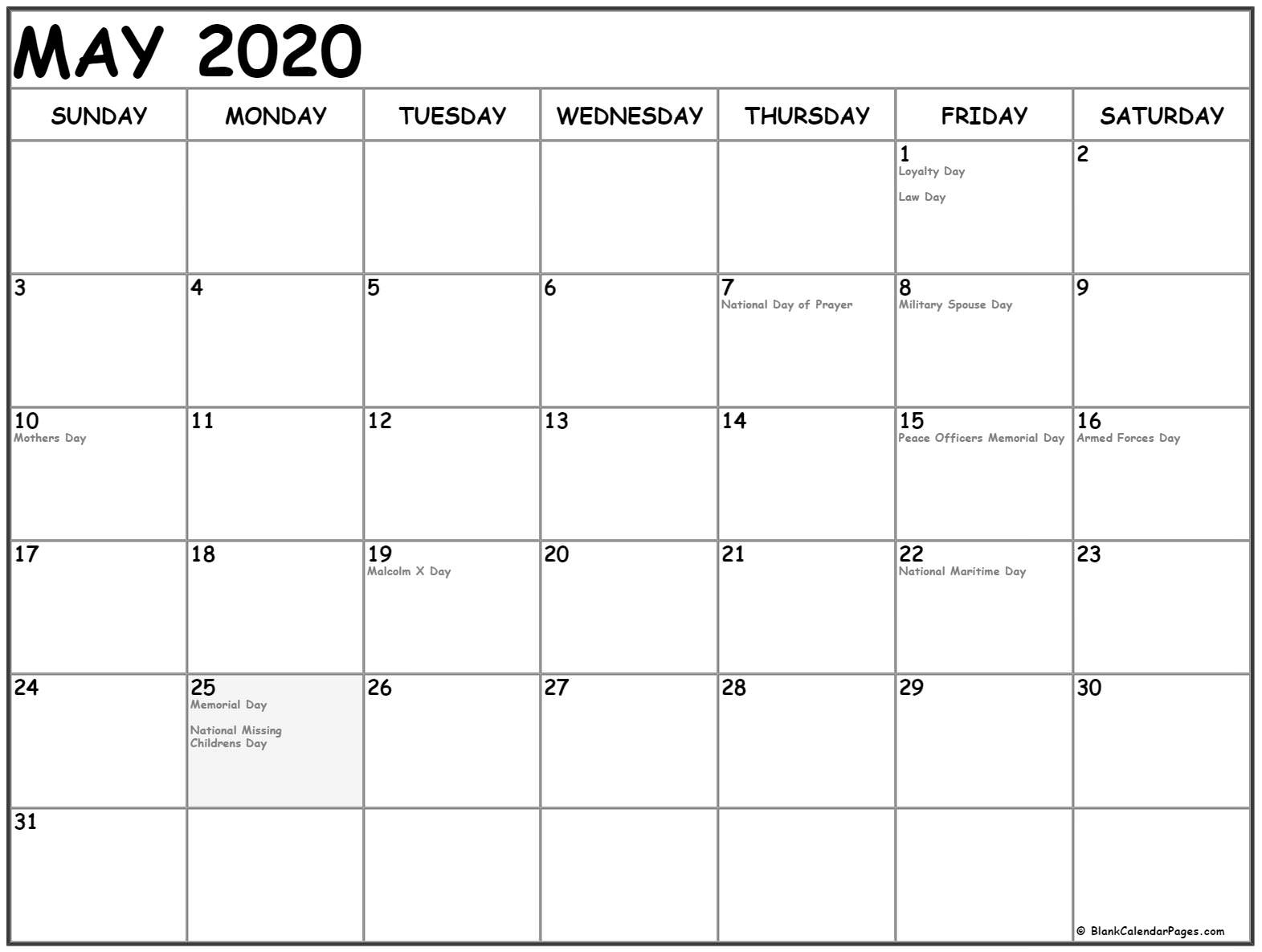 May Calendar Archives » Creative Calendar Ideas regarding Kalnirnay 2020 Holidays