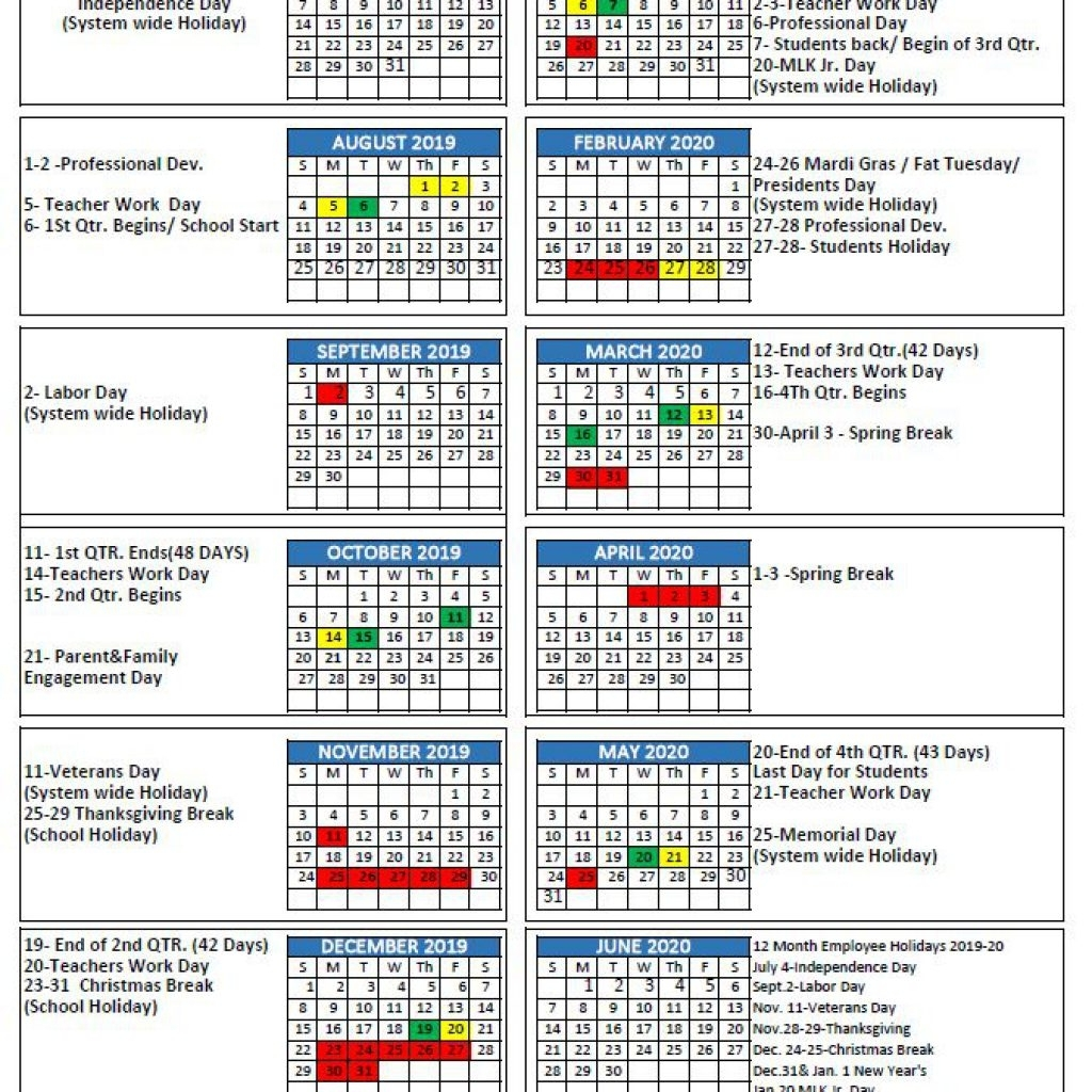 Mcpss Releases 2019-20 School Year Calendar | Thewire pertaining to Calendar 2019-2020 Important Dates