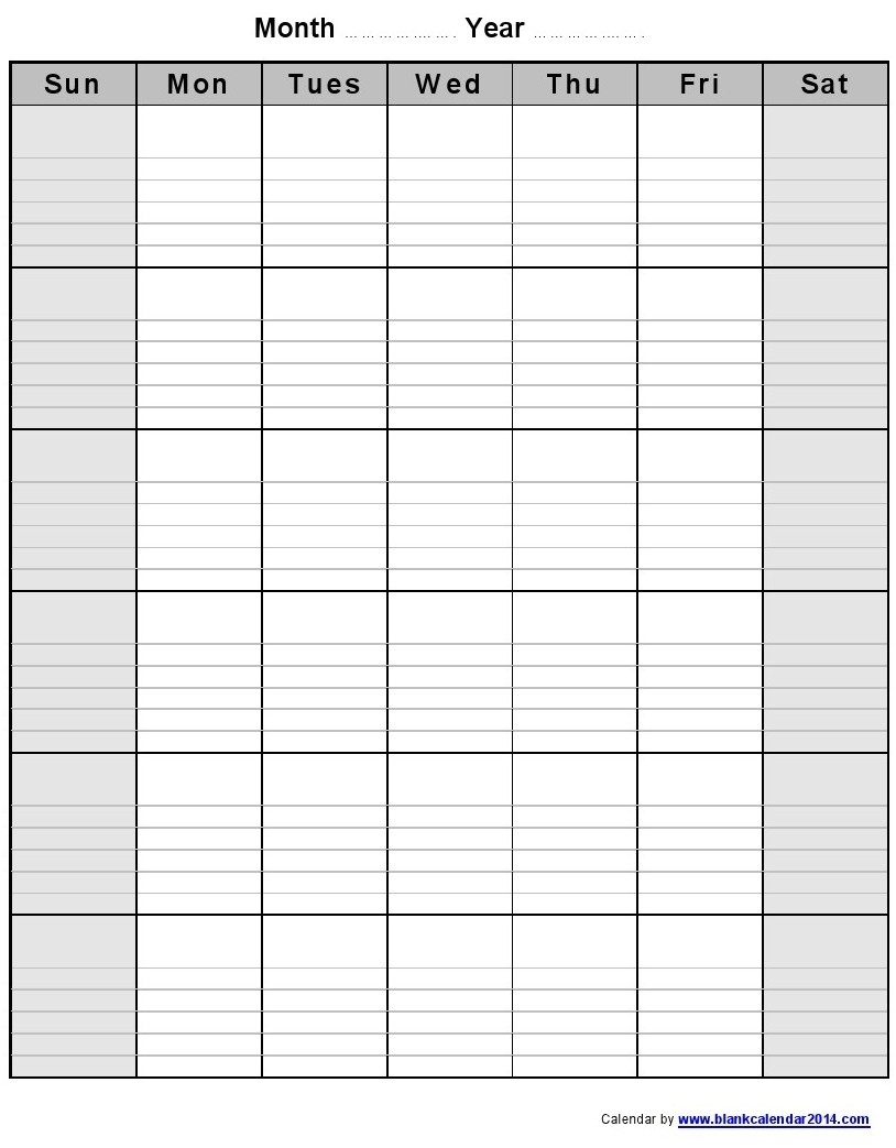 Monthly Calendar With Lines – Calendar Printable Week with regard to Printable Blank Monthly Calendar With Lines