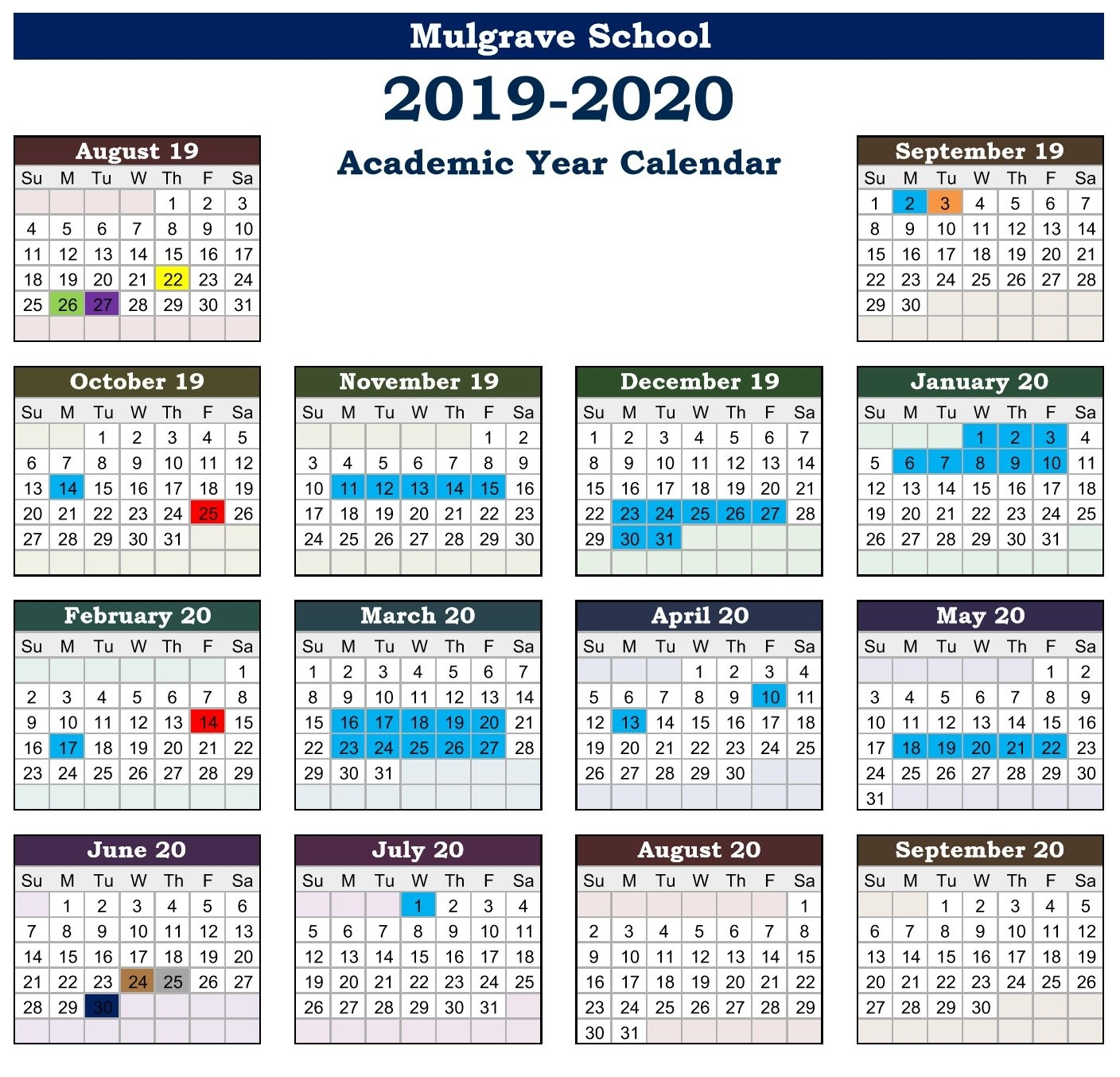 Mulgrave School - Calendars with regard to U Of M Calander 2019-2020