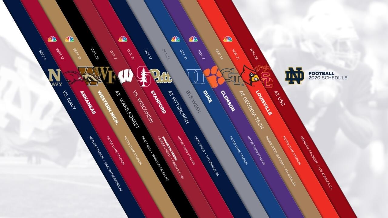 Notre Dame Announces 2020 Football Schedule – Notre Dame Fighting for U Of Michigan Calendar 2019-2020