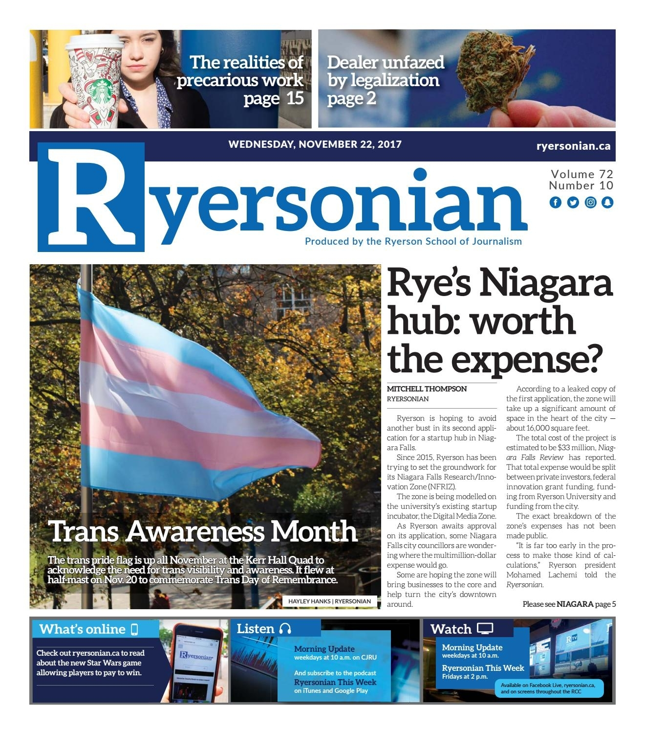 November 22, 2017 Issuetheryersonian - Issuu for Reading Week Ryerson 2020