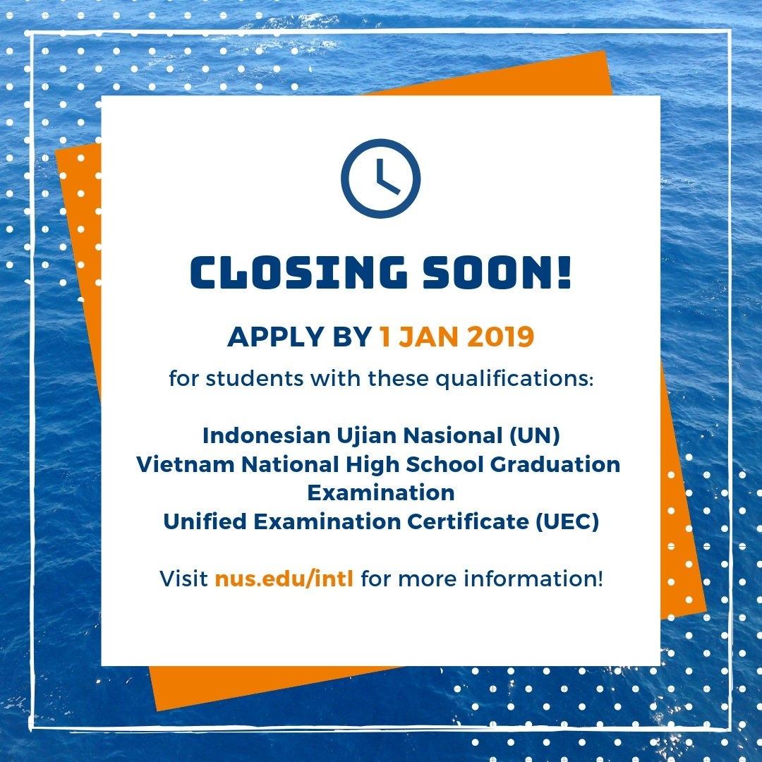 Nus Admissions (@nusadmissions) | Twitter pertaining to Nus School Term 2019 2020