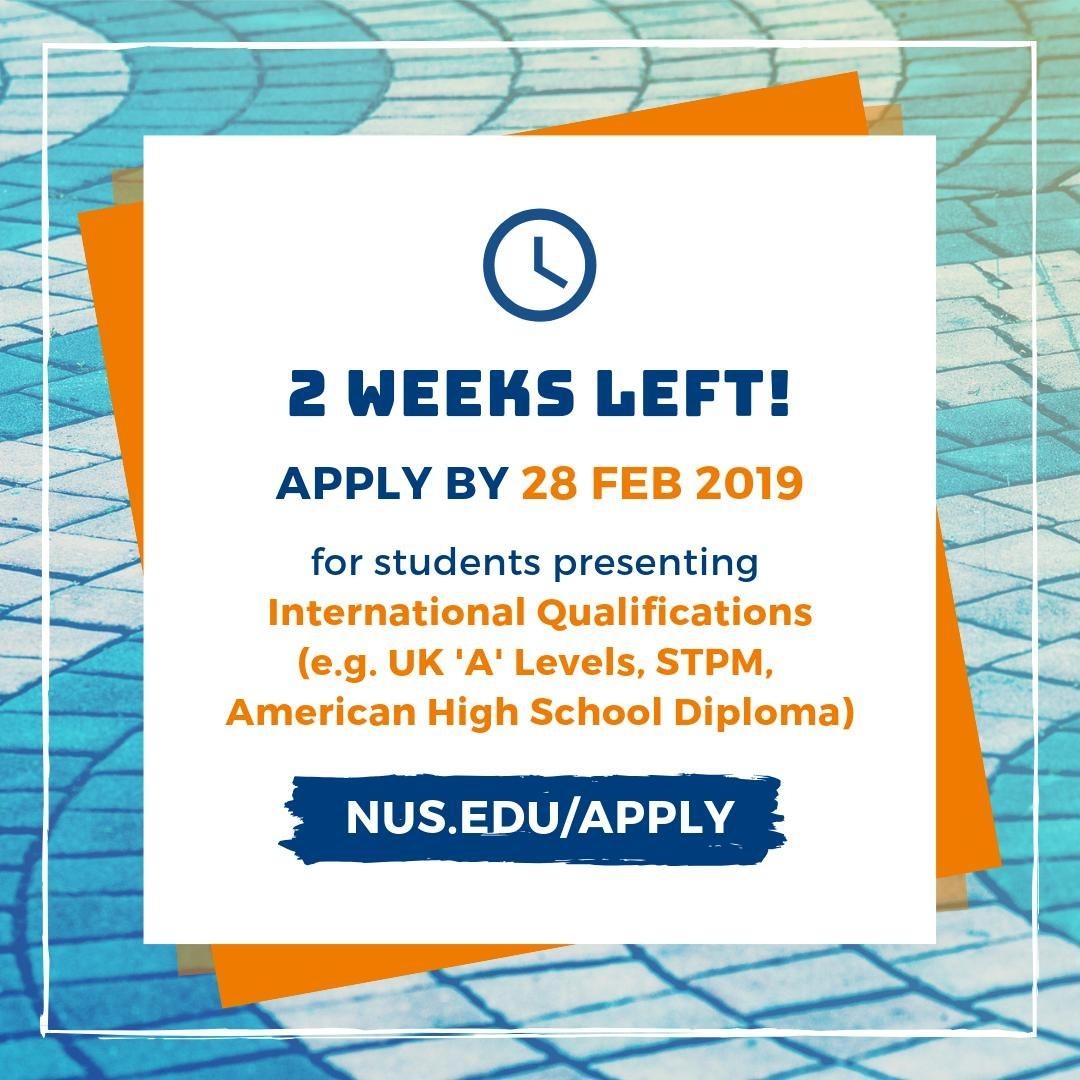 Nus Admissions (@nusadmissions) | Twitter regarding Nus Academic Calender 2019 2020