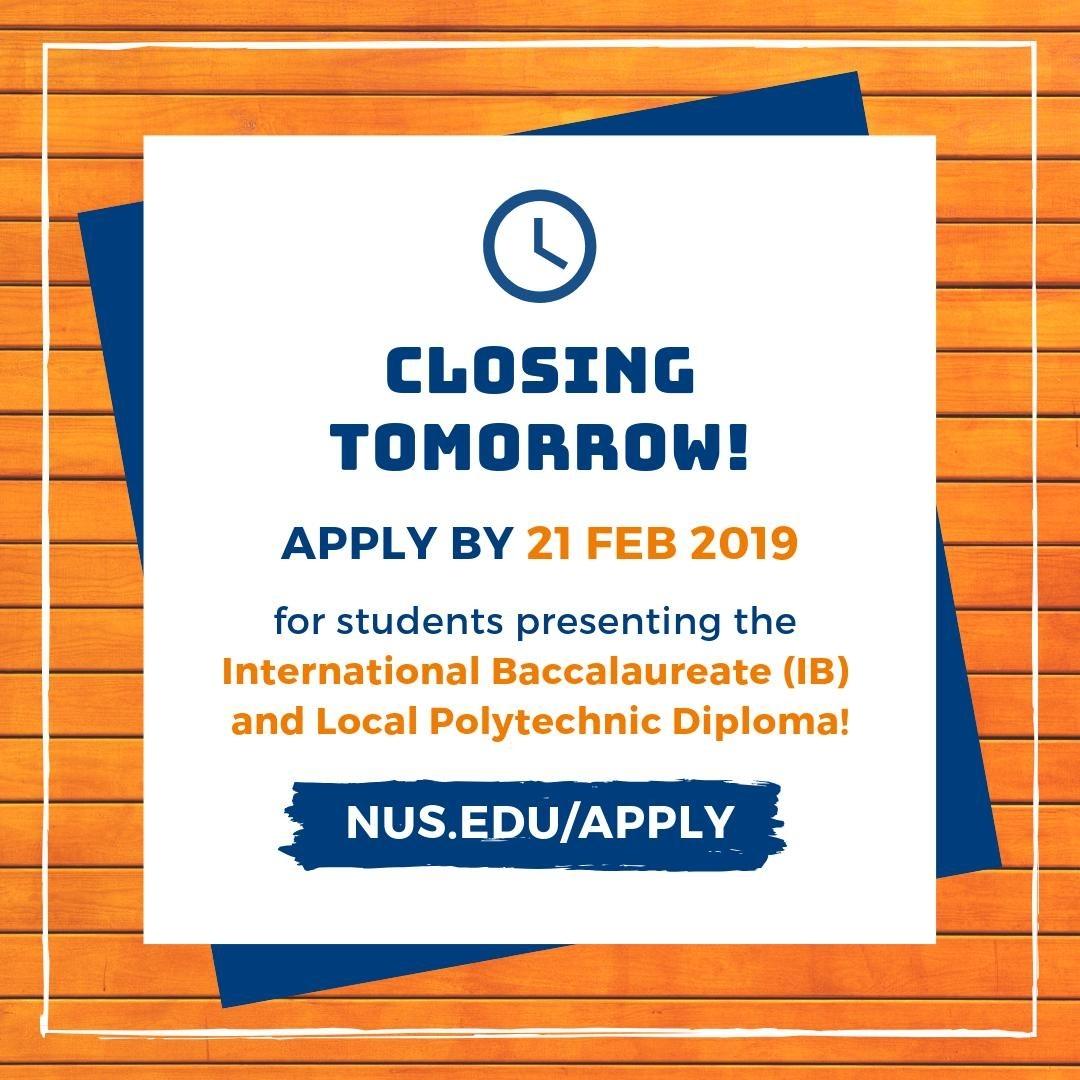 Nus Admissions (@nusadmissions) | Twitter regarding Nus School Term 2019 2020