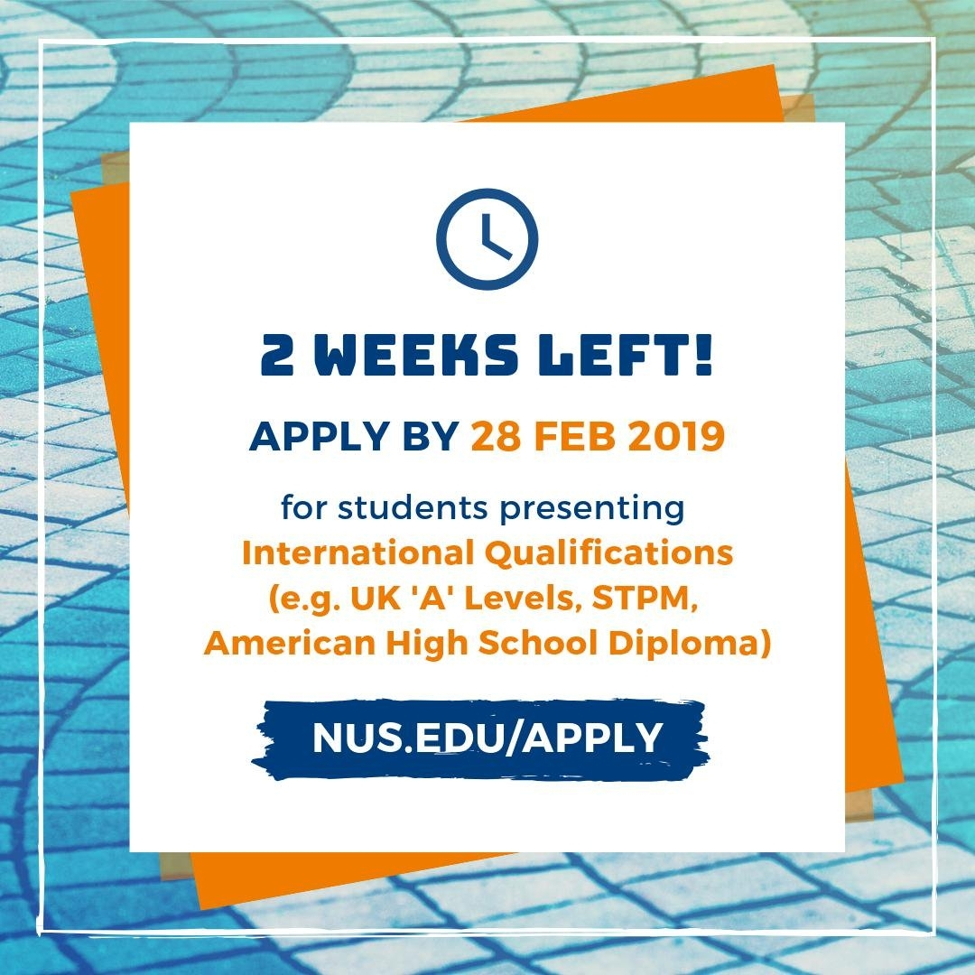 Nus Admissions (@nusadmissions) | Twitter throughout Nus Academic Calendar 2019/2020