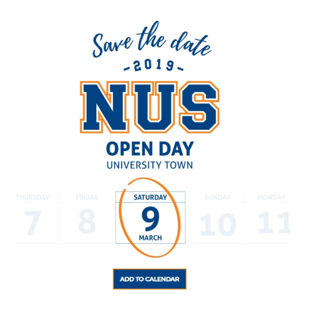 Nus Admissions (@nusadmissions)   Twitter within Acdemic Calender Nus 2020