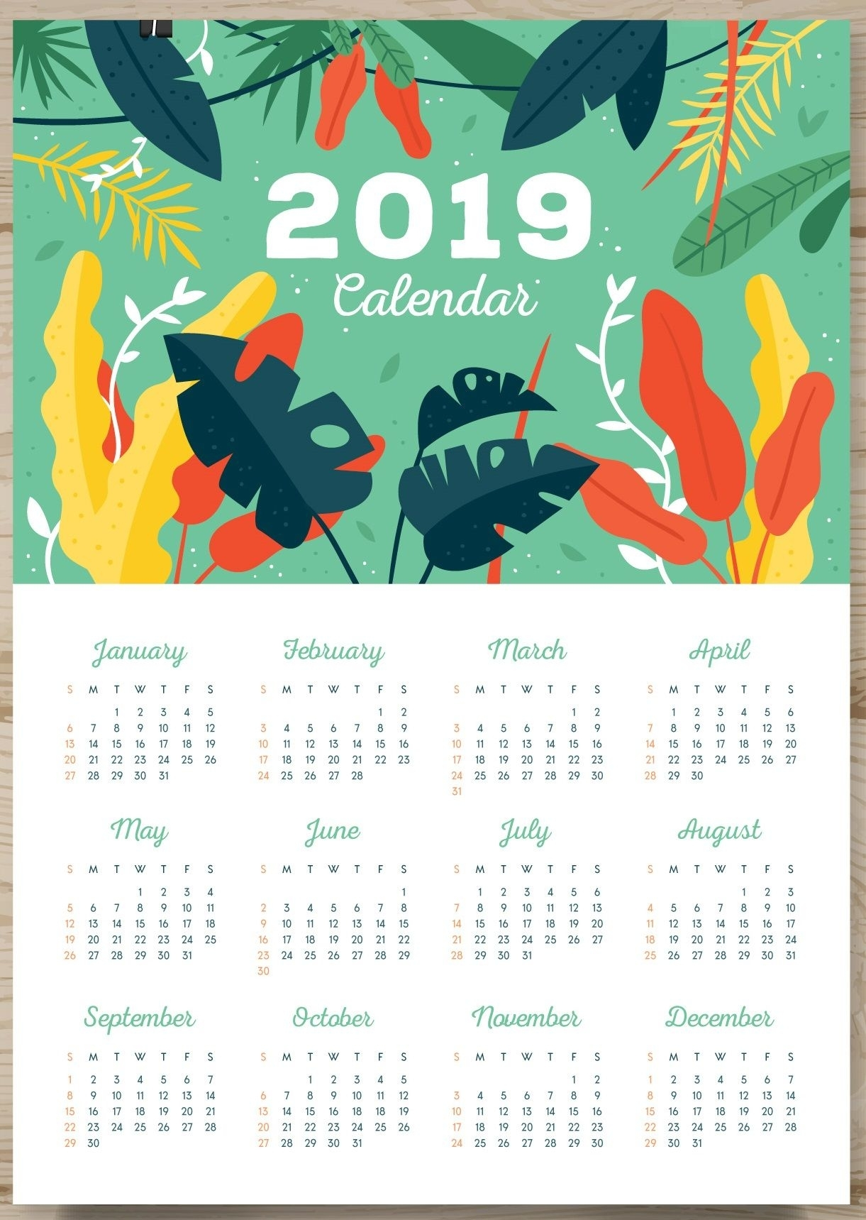 One Page Calendar 2019 | Monthly Calendar Templates | Printable with Monthly Calendar On One Page