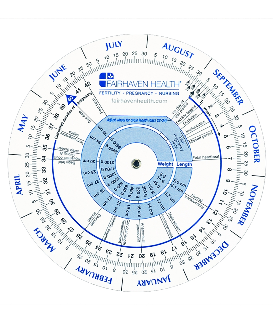 Ovulation Calendar And Pregnancy Wheel | Ovulation Predictor pertaining to Baby Prediction Plan Calendar Color