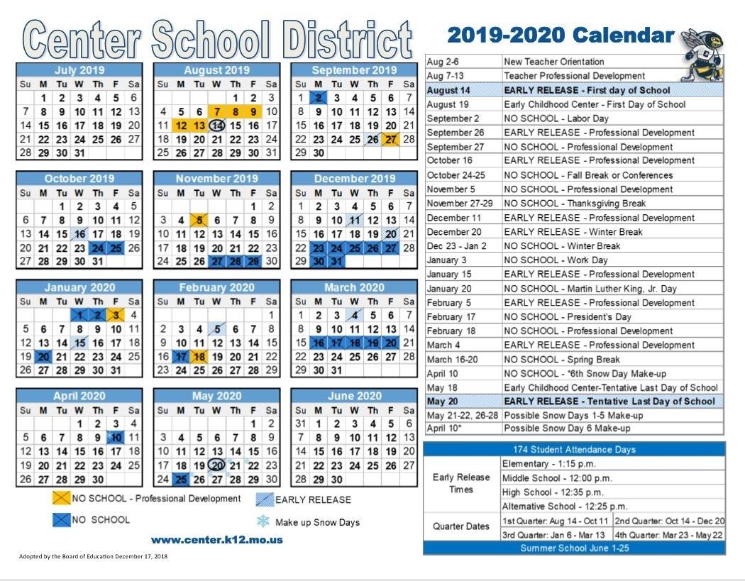 Parents - Center School District within Unit 4 Calendar 2019-2020