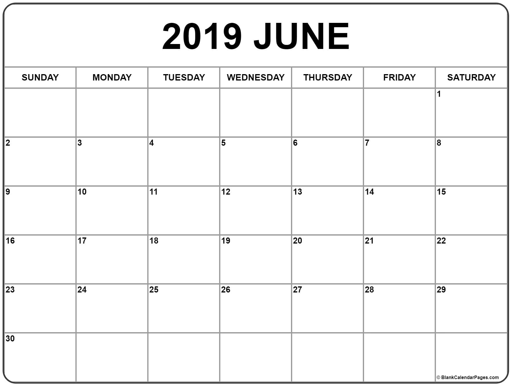 Prime June 2019 Month Blank Calander Monday Thru Friday Only inside Blank Calendar Template Monday To Friday Only