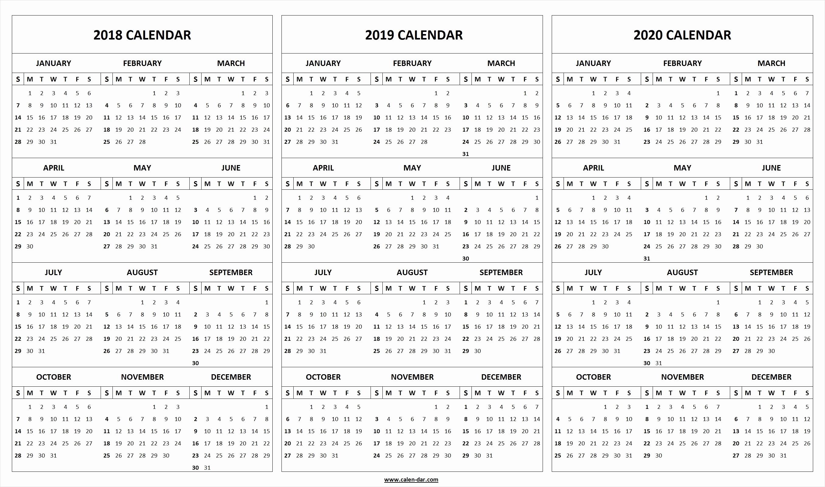 Printable 2019 2020 Academic Calendar Printable 2018 2019 2020 within 2019- 2020 Calendar Printable Uga