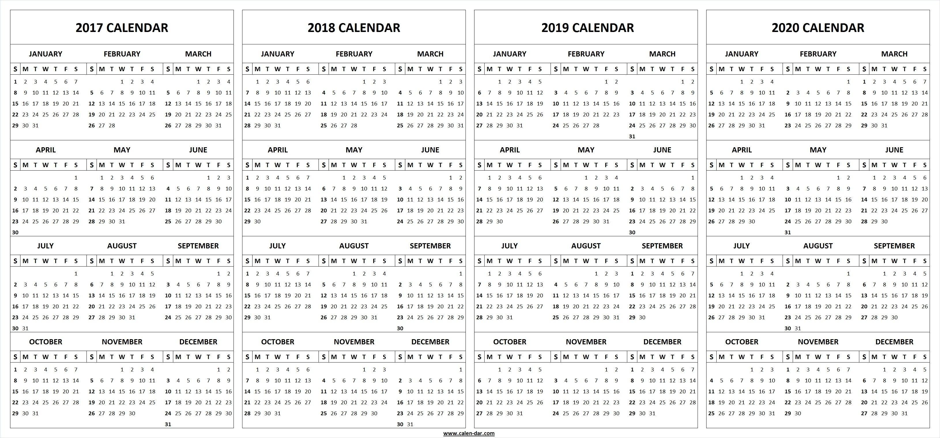 Printable Calendar 2018 And 2019 And 2020 | Printable Calendar 2019 with 2020 Imom Calendar Printable