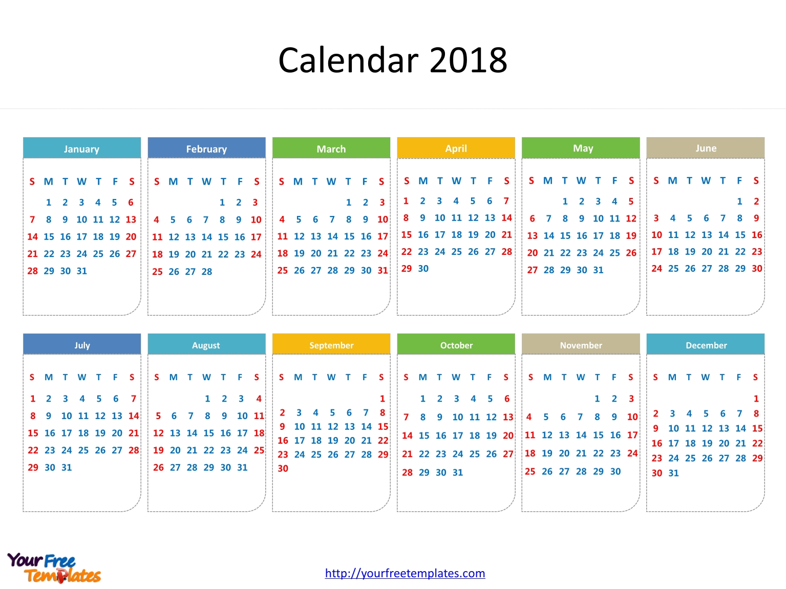 Printable Calendar 2018 - Free Powerpoint Templates with Printable Date To Date Calendar