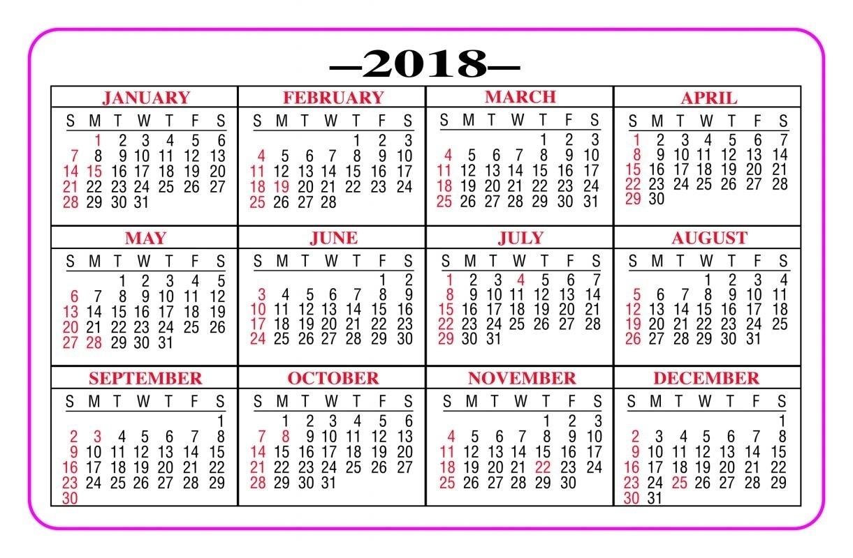 Printable Calendar 2018 Pocket   Printable Calendar 2019 regarding Free Printable Pocket Size Calendars