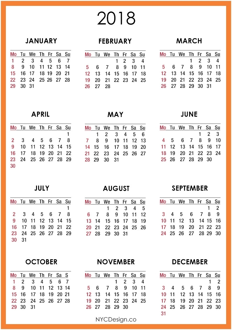 Printable Calendar 2018 Pocket Size | Printable Calendar 2019 in Free Printable Pocket Size Calendars