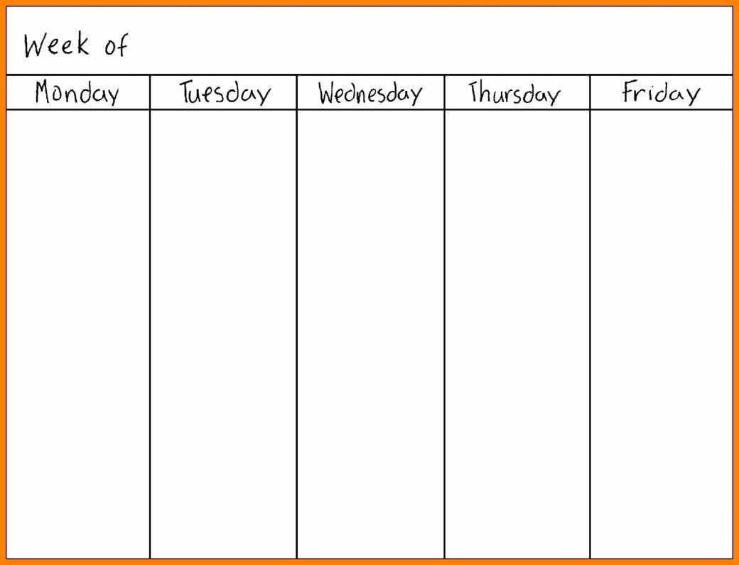 Printable Calendar Monday Through Sunday | Printable Calendar 2019 throughout Printable Monday Through Friday Calendar Template