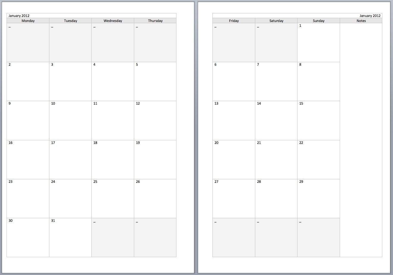 Printable Monthly Organiser Pages Monday To Sunday | Template within Printable Monthly Organiser Pages Monday To Sunday