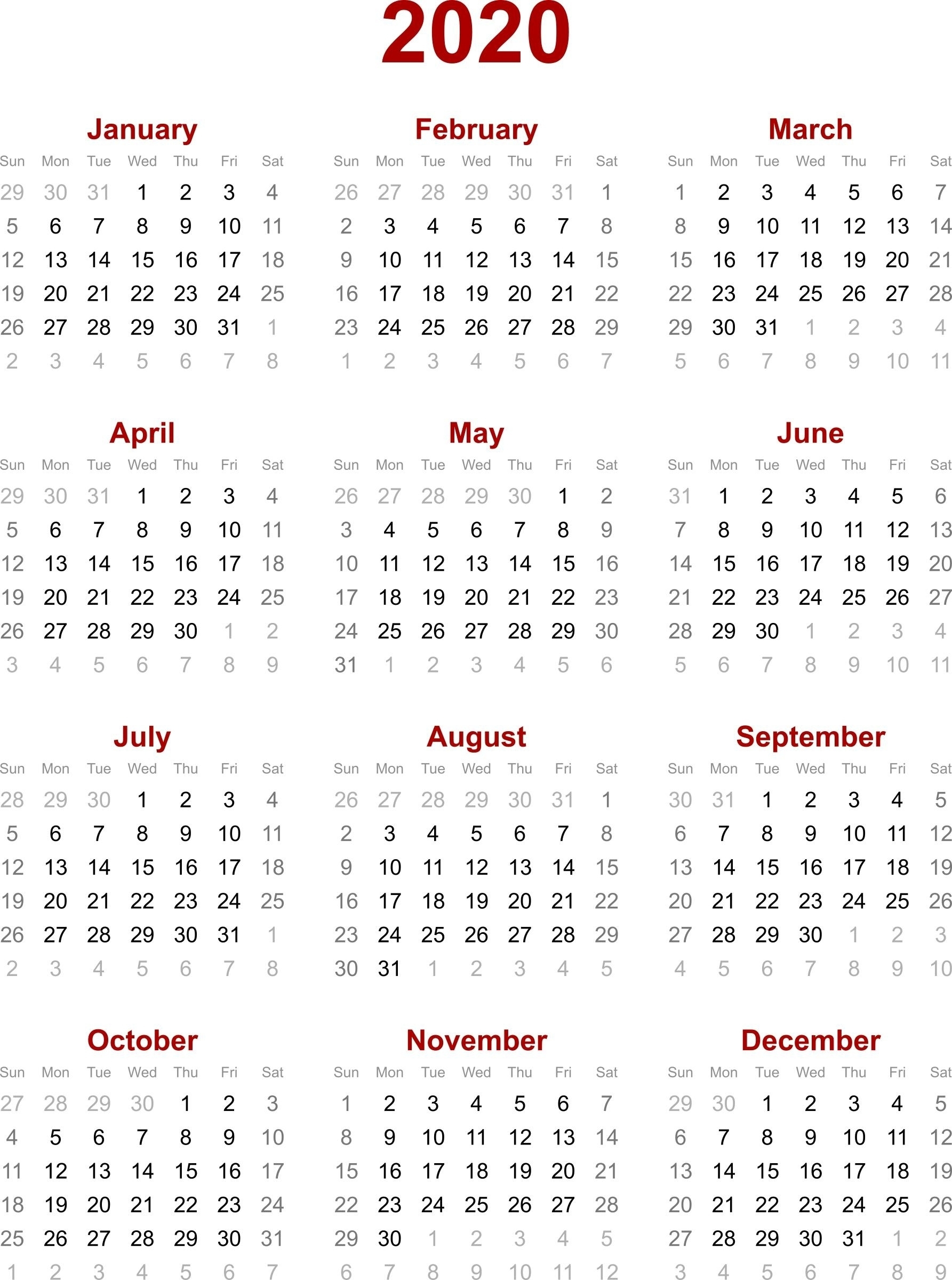 Remarkable 2020 Calendar Singapore Holiday • Printable Blank in 2020 Calendar Printable Singapore