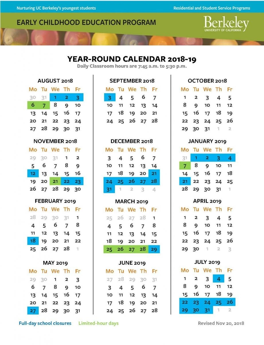 Resources | Early Childhood Education Program, Uc Berkeley for Uc Berkeley 2019 2020 Calendar