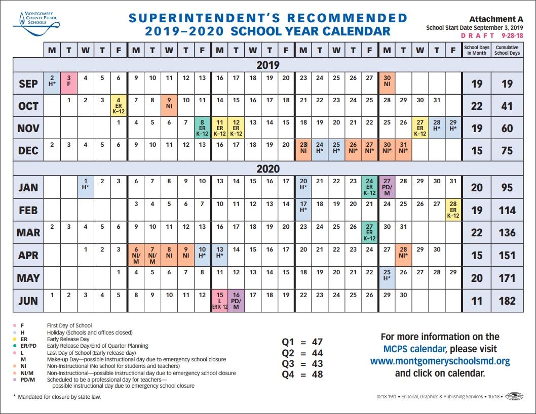 School Board To Vote On 2019-2020 School Year Calendar Tuesday with Ewish Calendar 2019 - 2020