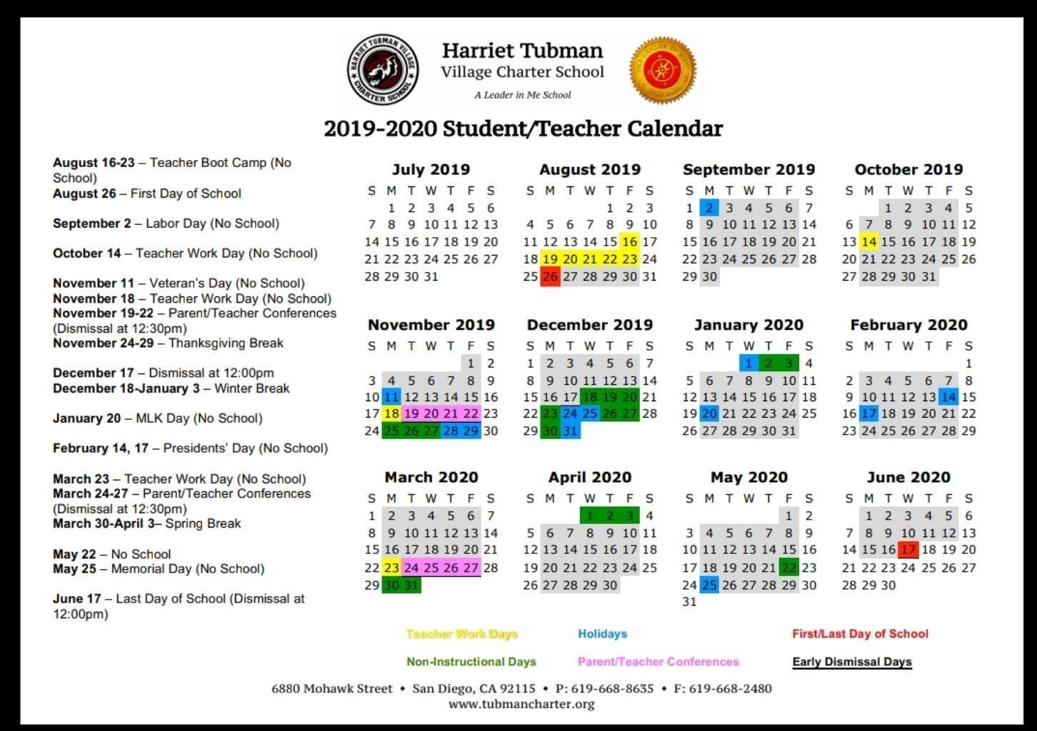 School Year Calendar 2019-20 – School Year Calendar 2019-20 with Calendar 2019-2020 Important Dates