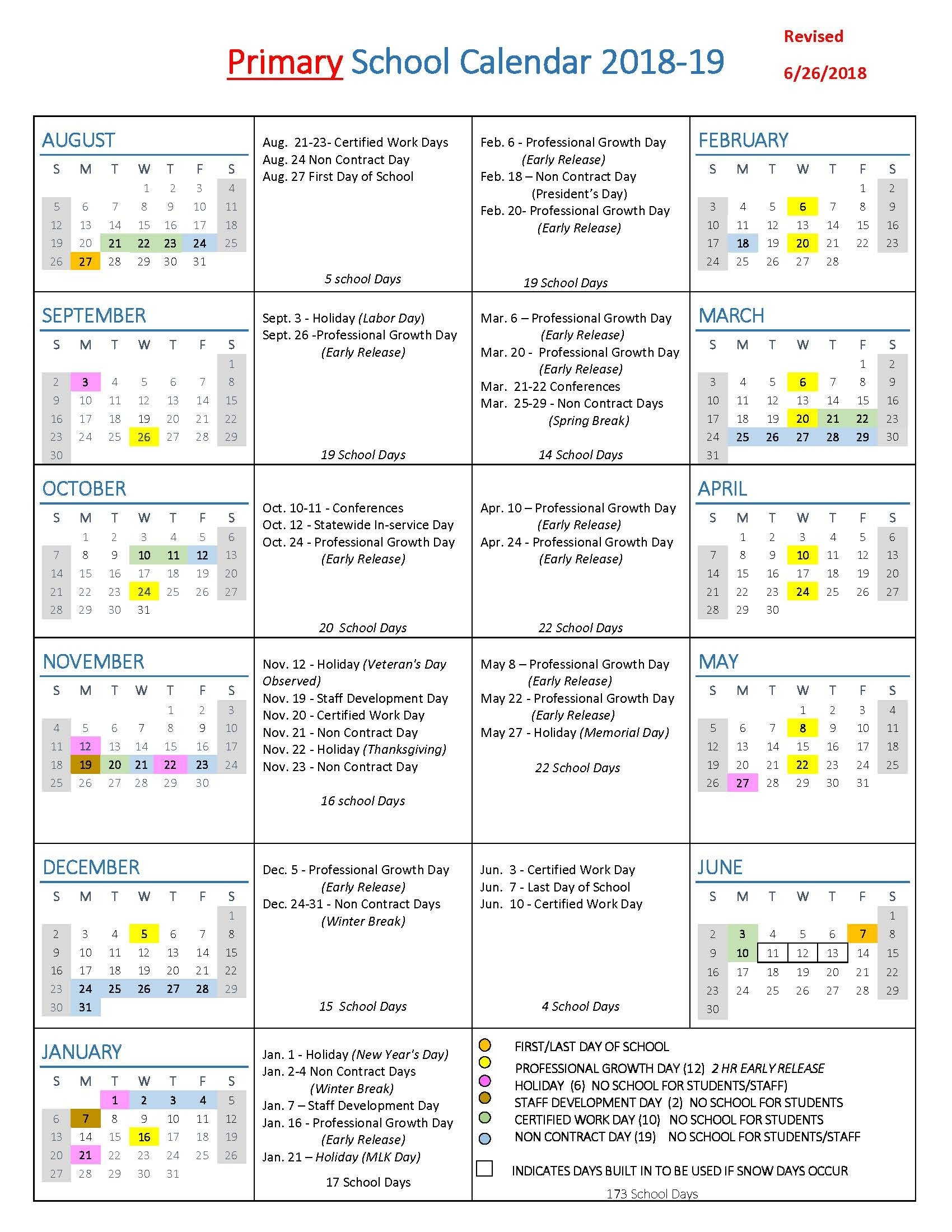 School Year Calendars / Wlwv School Calendars pertaining to 2019-2020 National Days Calendar
