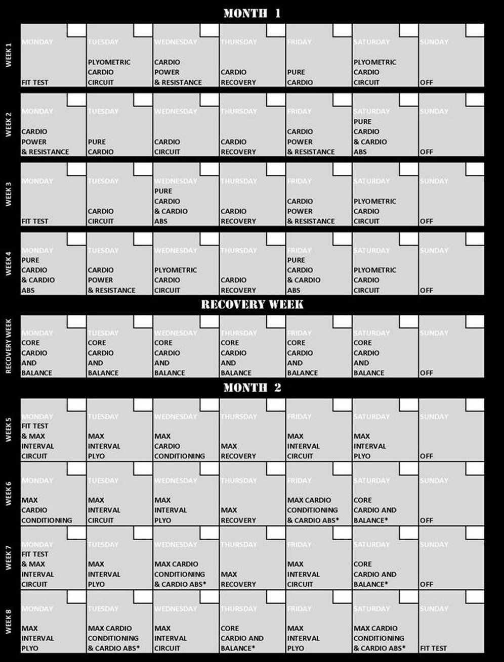 Shaun T Insane Abs Calendar Schedule | Template Calendar Printable within Shaun T Insane Abs Calendar Schedule