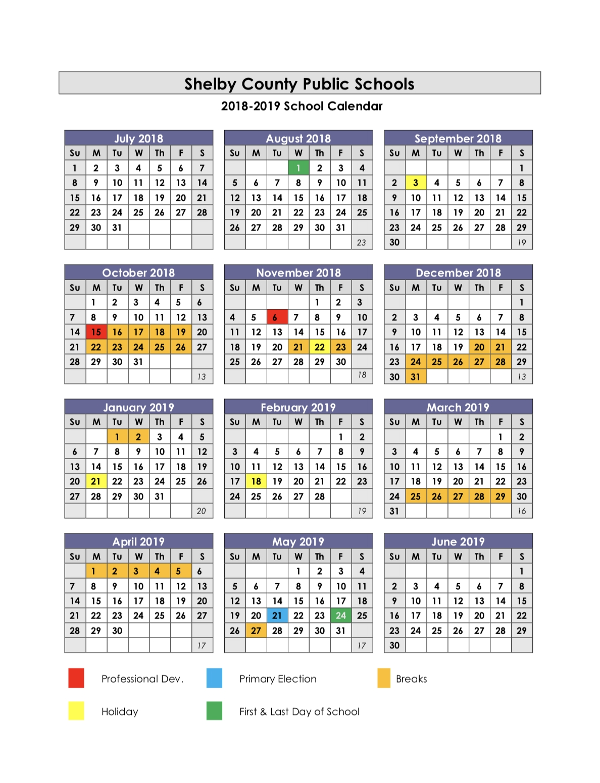 Shelby County High School / Calendar pertaining to Calendar Week 2020 Kannada